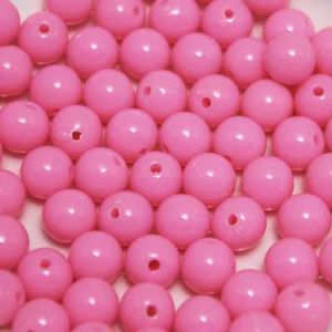 Beads, Acrylic, Light pink, Spherical, Diameter 8mm, NA, 10g, 30 Beads, (slz0091)